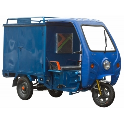 Грузовой электрический трицикл с кабиной Силач-500 (1000W 48V 45Ah)