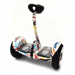 Гироскутер мини-сигвей MINI-ROBOT ninebot белый граффити 36V