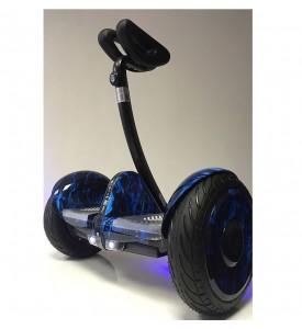 Гироскутер мини-сигвей MINI-ROBOT синий огонь