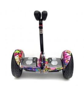 Гироскутер мини-сигвей MINI-ROBOT фиолетовый граффити 36V
