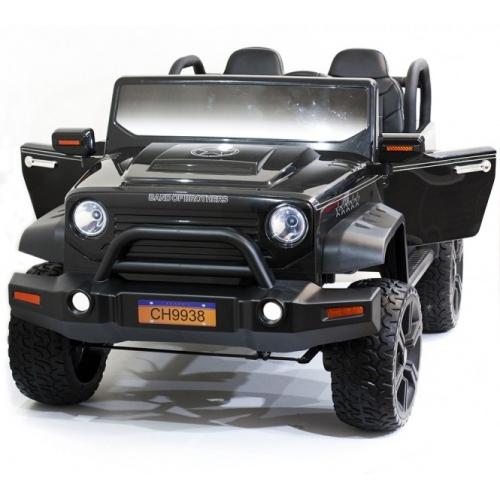 Детский электромобиль Jeep Hunter Black с полным приводом - CH9938